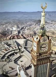 メッカに世界最大の時計
