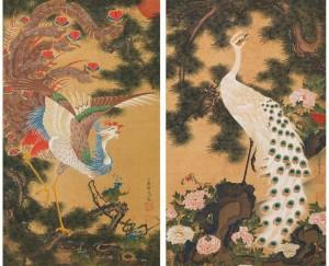 [968-001]孔雀鳳凰図